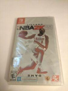NBA 2K21 Brand New Sealed NINTENDO SWITCH Game Basketball 2021 Damian Lillard
