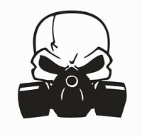 Skull and Gas Mask Vinyl Die Cut Car Decal Sticker - FREE SHIPPING
