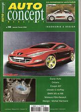 "REVUE MAGAZINE AUTOMOBILE "" AUTO CONCEPT "" N°65 ONTARIO COUPE 407 CITROEN C-AIR"