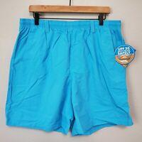 "NWT Columbia PFG Backcast III Size L / 8"" Men's Water Shorts Riptide Blue"