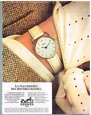 """Publicité Advertising 1979 La montre """"Arceau"""" par Hermès"""