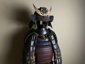 Japanese Antique Samurai Armour Yoroi Kabuto Genuine Life Size Edo Period (b811)