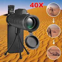 40*60 Monocular Telescope Camera Lens Phone Clip &Tripod for Hiking Travelling