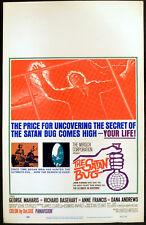 SATAN BUG 1965 George Maharis, Richard Basehart, Anne Francis US WINDOW CARD