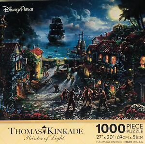 Disney Parks Thomas Kinkade Pirates Of The Carribean 1000 Piece Puzzle Pearl NIB