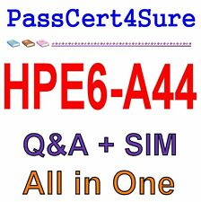 HP Scalable WLAN Design and Implementation (SWDI) 8 HPE6-A44 Exam Q&A PDF+SIM