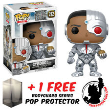 FUNKO POP DC JUSTICE LEAGUE CYBORG AND MOTHER BOX EXCLUSIVE + FREE POP PROTECTOR