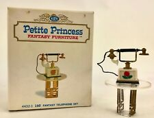 Vintage Petite Princess Dollhouse Furniture. Fantasy Telephone Set 4432-1 In Box