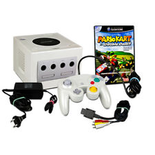 GAMECUBE consola BLANCA - Pearl White + orig. Mando + Mario Kart Double Dash