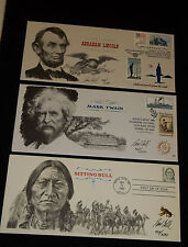 Collectible Cachet Lincoln,Twain, Sitting Bull # 331