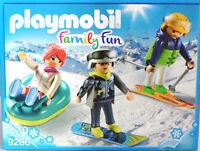 PLAYMOBIL 9286 Freizeit WIntersportler Sklifahrer Snowboarder Snowtube Frau NEU