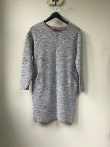 Gorgeous Ladies Joules Grey Jersey Tunic Dress, UK Size 8, Very Good Condition