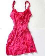 New Abercrombie & Fitch Womens Bright Pink Ruffle Sun Dress Size Medium