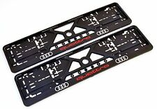 2x AUDI EUROPEAN LICENSE NUMBER PLATE SURROUNDS HOLDERS