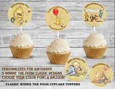 Classic Winnie the Pooh Birthday Party Cupcake Toppers