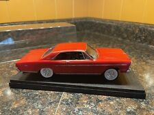 Red 1966 Ford Galaxie 1:25 Model Kit Adult Built With Display Case