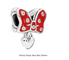 Genuine Pandora Silver Sterling Disney Minnie Mouse Pave Bow Charm