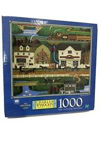 CHARLES WYSOCKI   * HOMETOWN FALLS   * 1000 PIECE JIGSAW PUZZLE ( 1 Pc Missing )