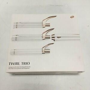T3 SinglePass Curling Iron Twirl Trio Interchangeable Clip Styling Wand 76584