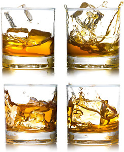 Whiskey Rocks Glasses With Heavy Base And Lead Free Crystal For Vodka