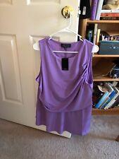 eloquii NWT Plus Size 18-20 sleeveless Purple Blouson Style With Peplum Tank