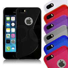S-Line Gel Rubber Slim Case Cover Skin With Screen Protector For Apple iPhone