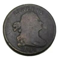 1803 Draped Bust Half Cent VG-F