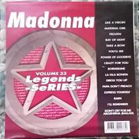 LEGENDS KARAOKE CDG MADONNA 1980'S HITS POP OLDIES #33 16 SONGS MATERIAL GIRL
