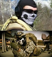 UrbanSource Black Seamless Skull Face Tube Mask  COD GHOST Cold Gear Half Dot