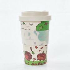 f7d9610e734 Reusable Bamboo Travel Cup With Screw Top Lid Holds 400 ML Hedgehog Design