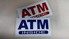 """ATM Inside Machine Store Business Decal Sticker Sign Glass Window SMALL 8""""x 5"""""""