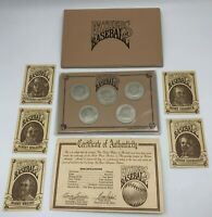 Fathers of Baseball 1992 $5 Australia Coins Brilliant Uncirculated Set with COA