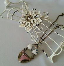 Bikini Beach Summer Charm Chain Necklace Bronze Pink Fashion Jewelry