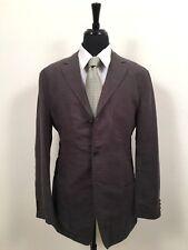 4c884bd82 Hugo Boss Linen Sport Coat Blazer Olive Green Unstructured Jacket Men's sz  ...