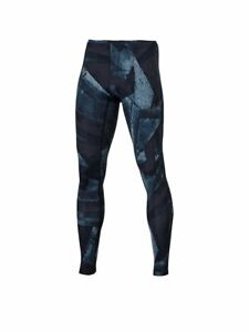 Asics Men's Running Tights Graphic Sports Tights - Blue - New