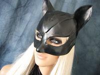 CATWOMAN HAUBE (Gr.XS/S) Weibl. Latex Ohren-Maske Katze Kitty Pet Play Gummi