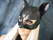 CATWOMAN HOOD MASK - Female Latex Ear Maske Batman Katze Halloween Haube Kitty