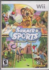 Summer Sports Paradise Island game Nintendo Wii + Booket