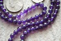 108 Amethyst Handmade 6mm Japa Mala Meditation Bead Necklace-Blessed & Energized