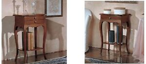 Art.374 Noce Tot/ò Piccinni Mobiletto Porta Telefono in Legno Massello Arte Povera Made in Italy
