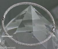 """ITALIAN Beauty Solid 14K White Gold 7"""" MESH Bangle Bracelet 3.7g GORGEOUS"""