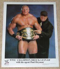 "WWE PHOTO BROCK LESNAR & PAUL HEYMAN ECW PROMO PRINT 8x10"" WRESTLING"