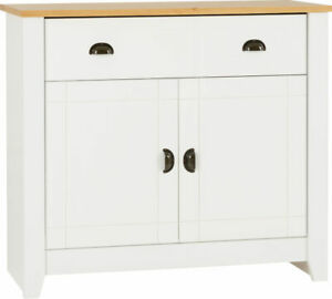 Ludlow 2 Door 2 Drawer Sideboard in White and Oak Lacquer