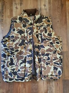 Drake Waterfowl goose Down Vest Old School Camo mcalister avery hunting (SB)
