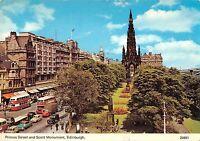 BR81937 princes street  scott monument edinburgh scotland double decker bus car