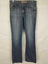 Gap Jeans Curvy Flare Stretch Womens Size 8 Long Pants stonewashed distressed