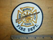 GUN BARREL CITY TEXAS FIRE DEPARTMENT PATCH Fighter Flint Lock Rifle Fireman