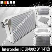 "Universal Intercooler 3"" I/O 25""x12""x3"" For Subaru Scion Mazda RX7 8 Mirage"