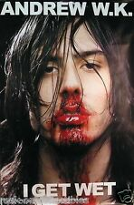 Andrew WK 2001 I Get Wet Original Promo Poster Jumbo Over Sized