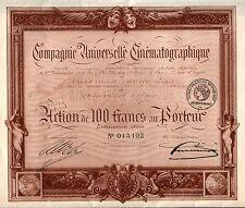 SUPERB SEPIA TONE 1910 ART NOUVEAU FRENCH FILM Co BOND w COUPONS Retail Val $150